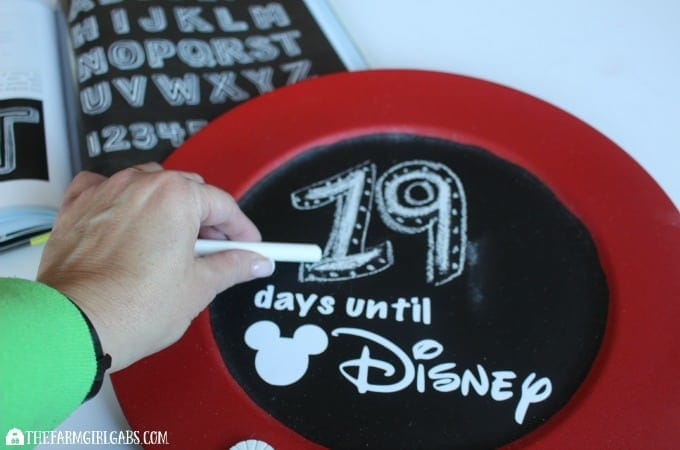 Countdown To Disney Chalkboard