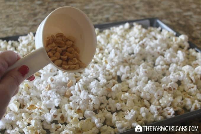 Candy Corn Popcorn - Step 1