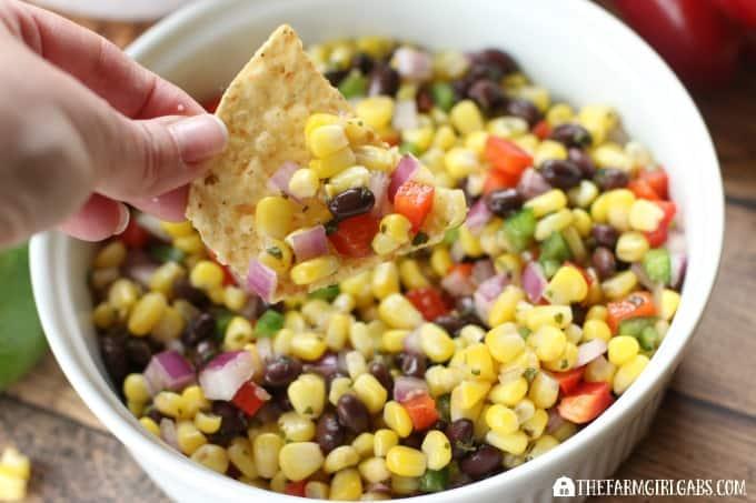 Roasted Corn And Black Bean Salsa