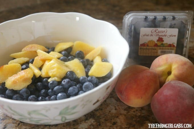 Blueberries and peaches collide to make this delicious classic Blueberry Peach Cobbler. This cobbler recipe is a perfect way to enjoy their summer bounty!