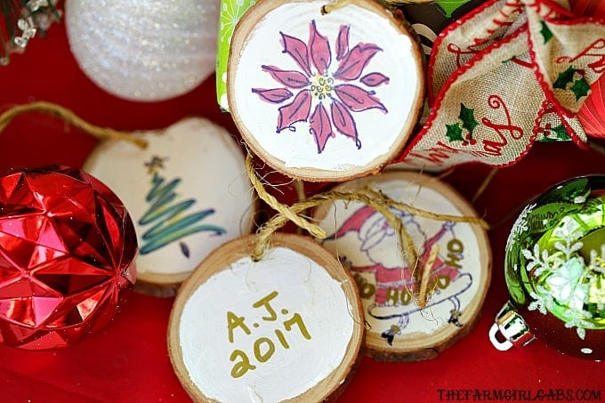 Wood Slice Ornament Gift Tags