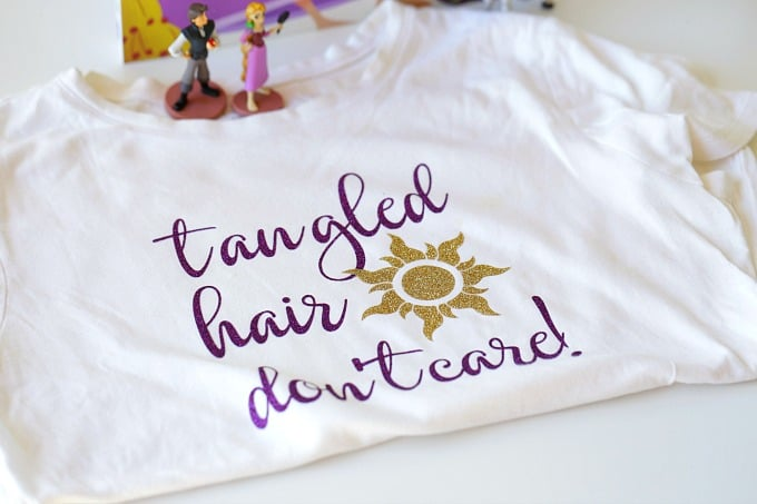 DIY Rapunzel Tangled Hair Don't Care Shirt