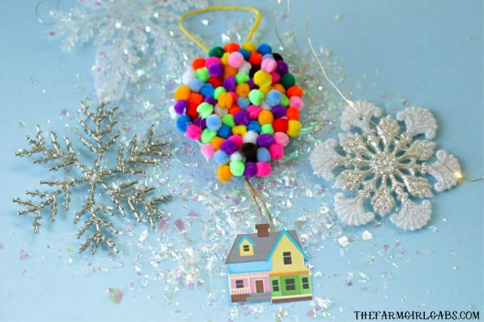 Adventure is out there! This Christmas,Make Your Own UP Disney Christmas Ornament. This easy craft is perfect for fans of the Disney Pixar movie UP! #UP #Pixar #DisneyCrafts #ChristmasOrnament #Disney #ChristmasTree #ChristmasDecoration