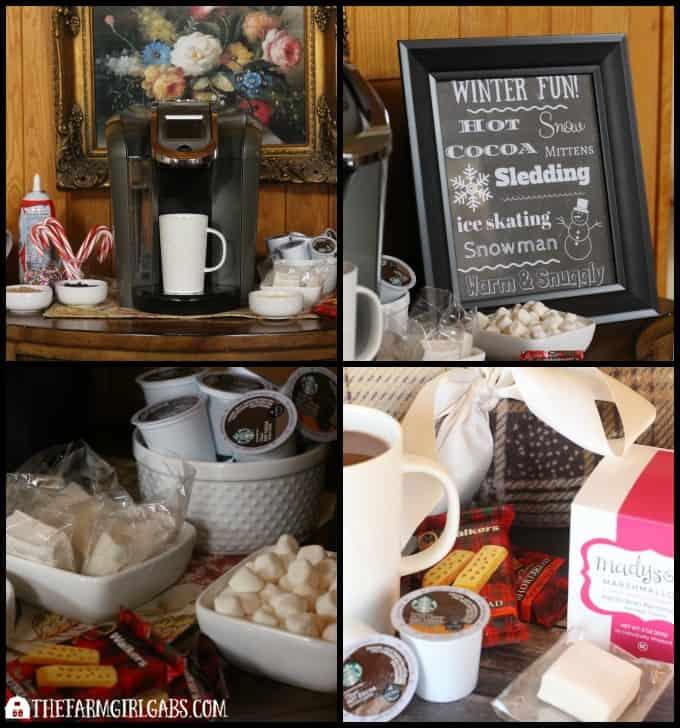 Warm Winter Fun Hot Cocoa Bar Plus Free Printable