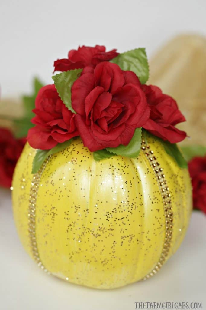 This enchanting Disney Beauty And The Beast Pumpkin is a perfect way to celebrate Halloween and a tale as old as time. This is the perfect Disney Halloween craft for Disney fans.