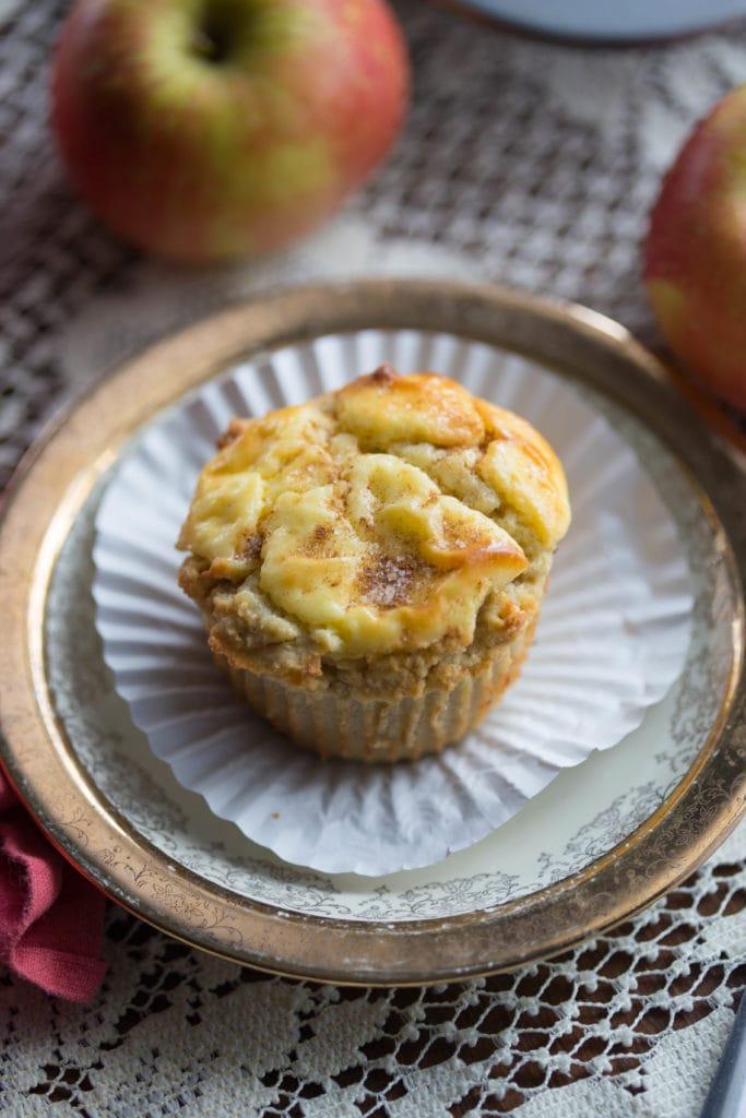 Apple Cheese Danish Muffins | Grain Free, Gluten Free, Sugar Free Muffin