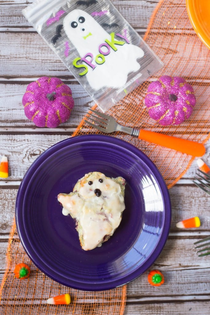 Copycat BoBerry Biscuit cut out in the shape of a ghost