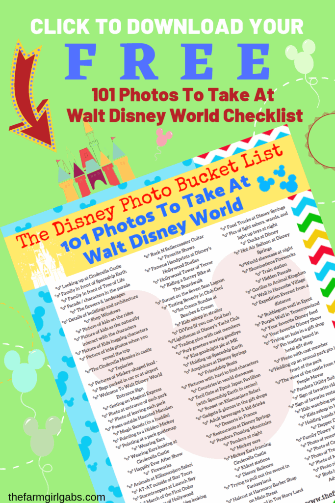 Ready for the ultimate Disney Photo Bucket List? I gathered some Disney photograph inspiration with these 101 Photos To Take At Walt Disney World.