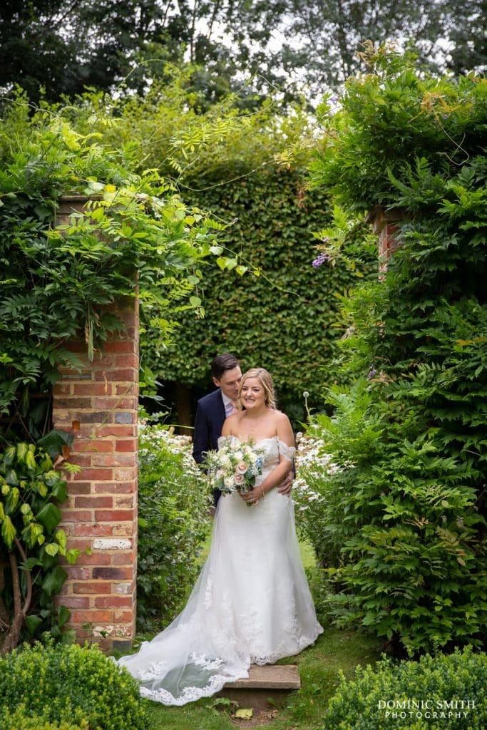 Bride and Groom at Langshott Manor 4