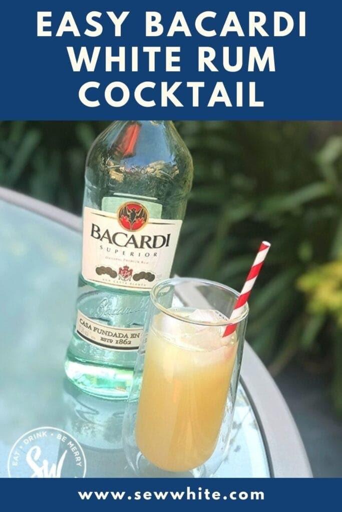 easy bacardi white rum cocktail