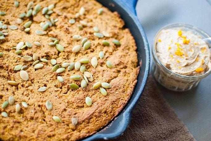 Pumpkin Cornbread w/ Whipped Gingerbread Butter * Slim Pickin's Kitchen