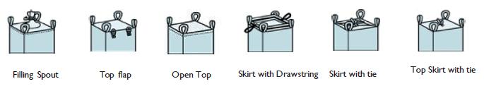 Various top filling options for fibc bags
