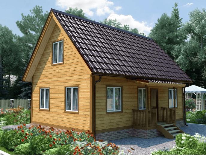 Каркасный жилой дом - КОТТЕДЖ-6