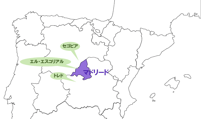 マドリード近郊地図