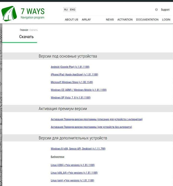 software de gps gratuito 7ways