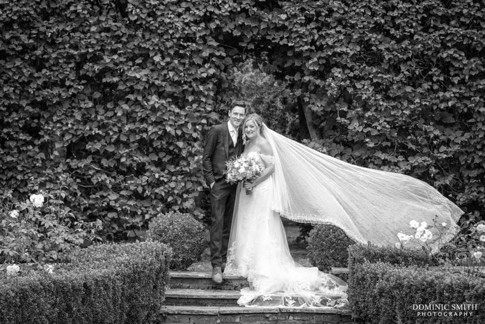 Bride and Groom at Langshott Manor 1