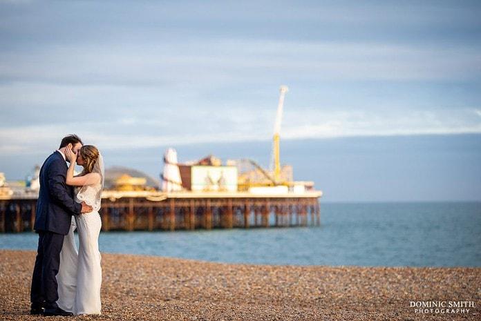 Wedding Couple Photo on Brighton Beach 3