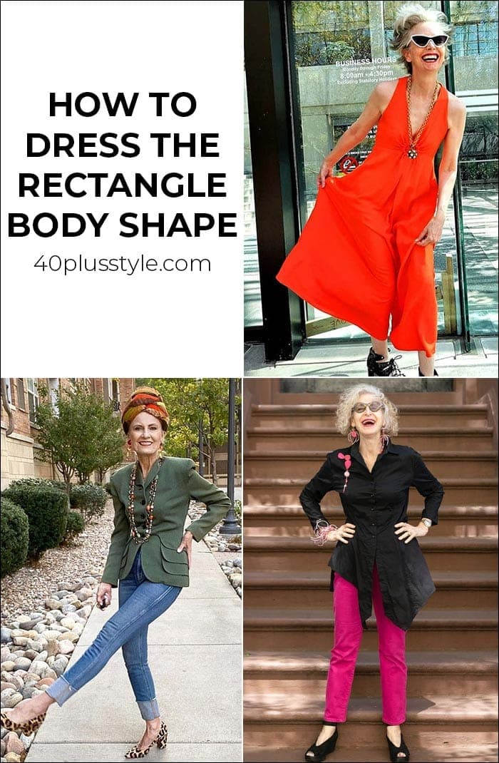A style guide and capsule wardrobe for the rectangle body shape | 40plusstyle.com