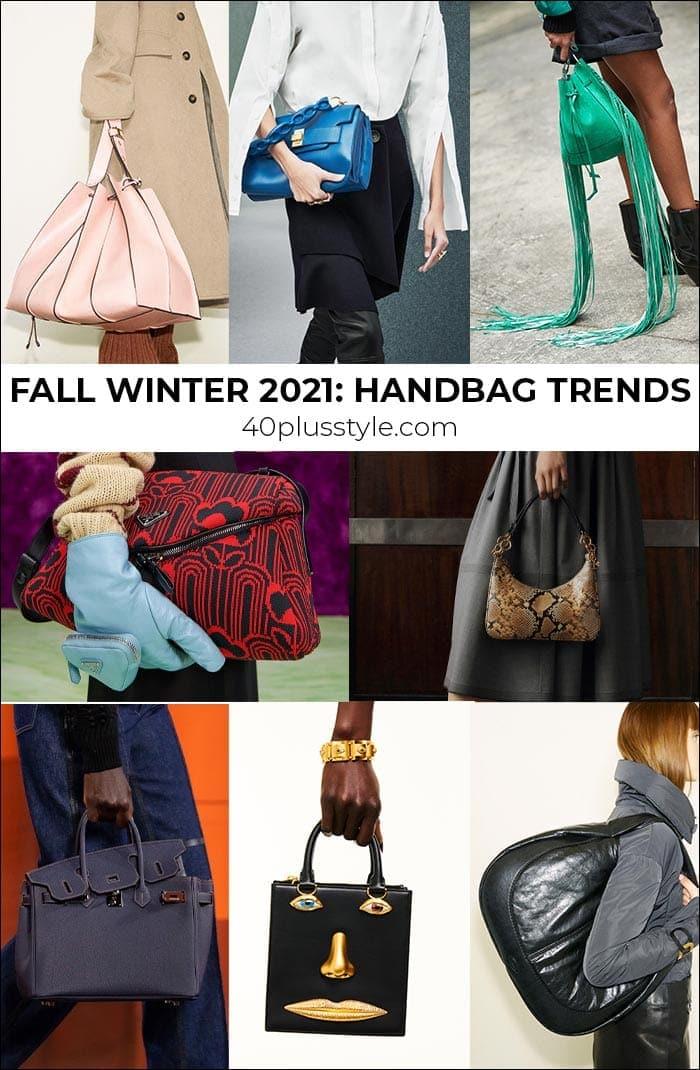 2021 handbag trends to carry into winter and fall | 40plusstyle.com