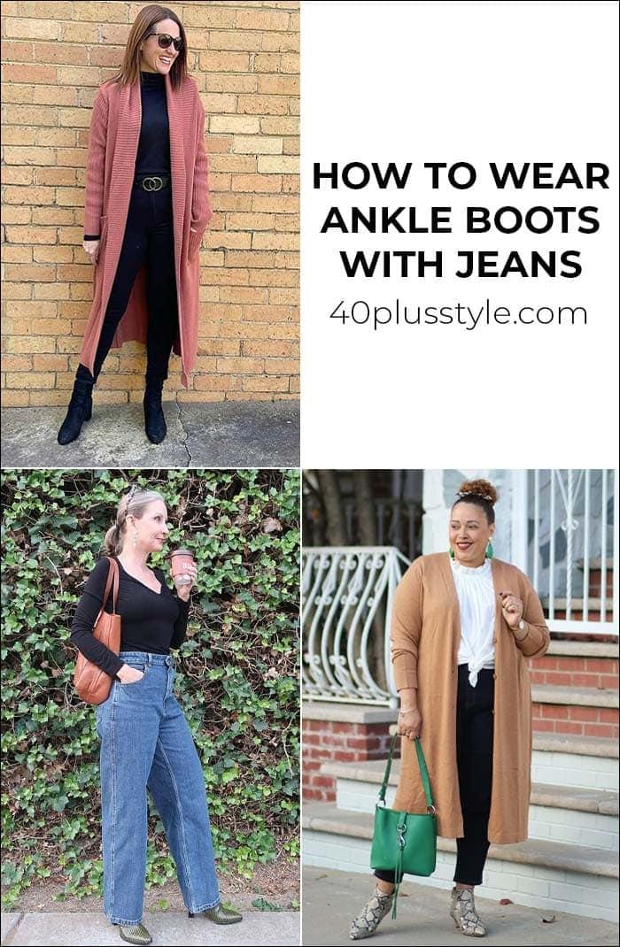 Wie man Stiefeletten zu Jeans trägt - und die besten Stiefeletten dieser Saison |  40plusstyle.comWie man Stiefeletten zu Jeans trägt – und die besten Stiefeletten dieser Saison |  40plusstyle.com