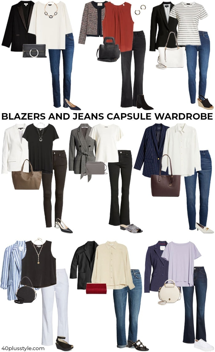 A blazer and jeans capsule wardrobe   40plusstyle.com