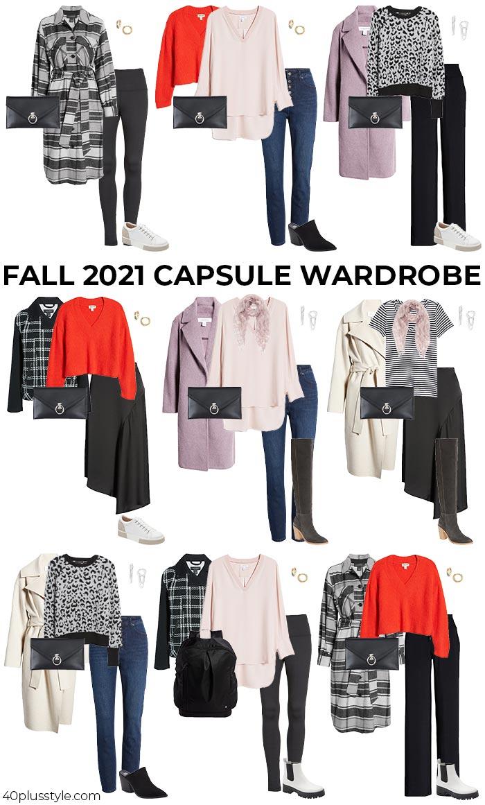 Fall 2021 capsule wardrobe   40plusstyle.com