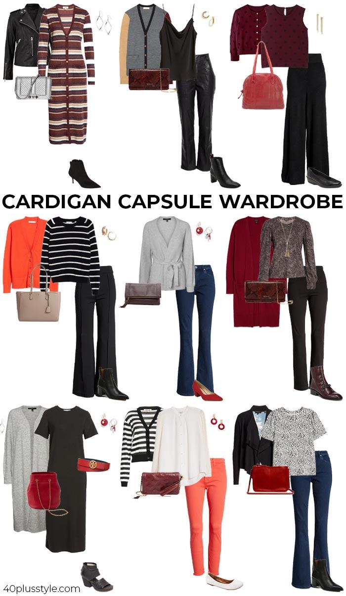 Cardigan capsule wardrobe | 40plusstyle.com