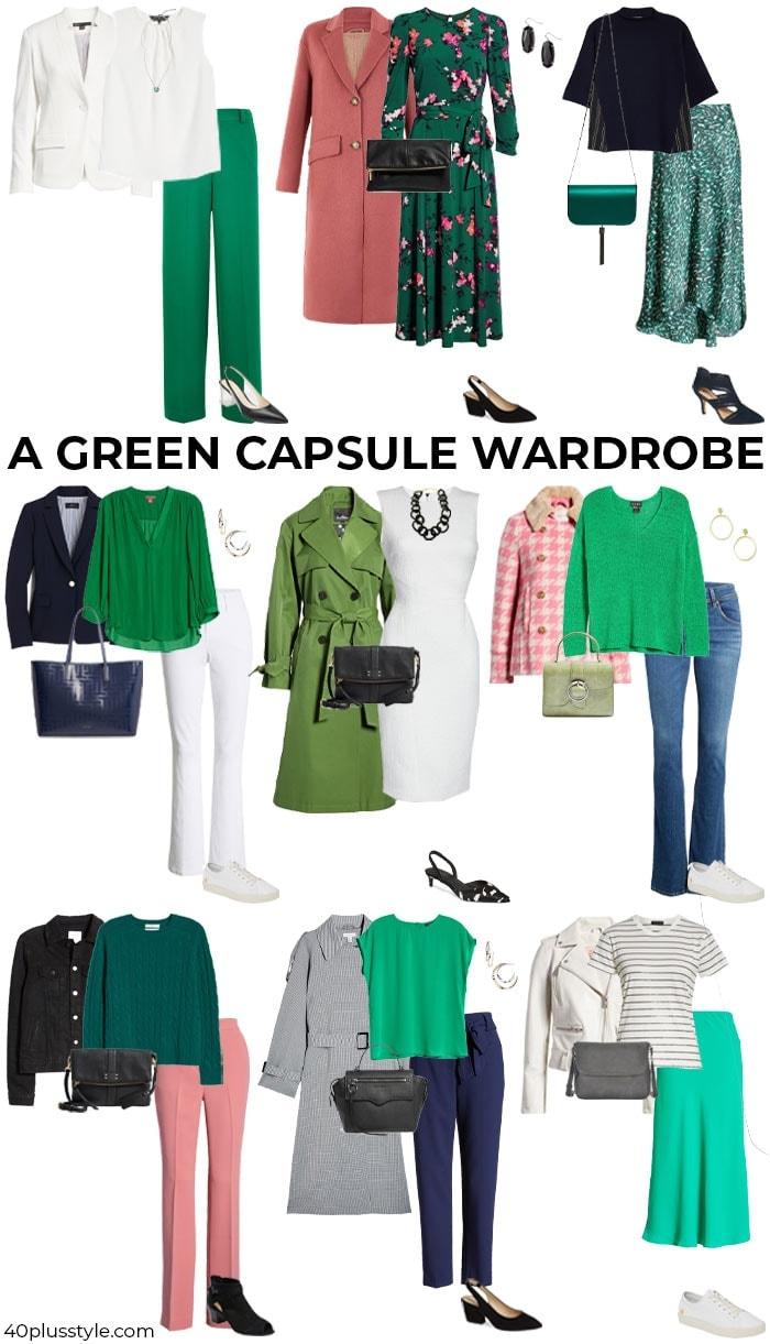 A green capsule wardrobe   40plusstyle.com