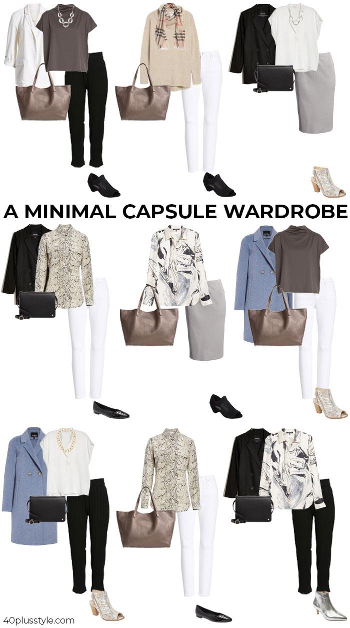 A minimal capsule wardrobe | 40plusstyle.com