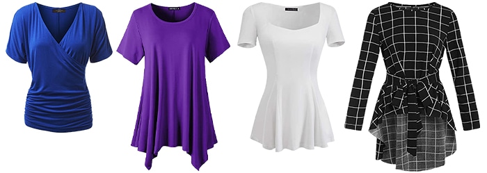 Tops for the apple shape body   40plusstyle.com