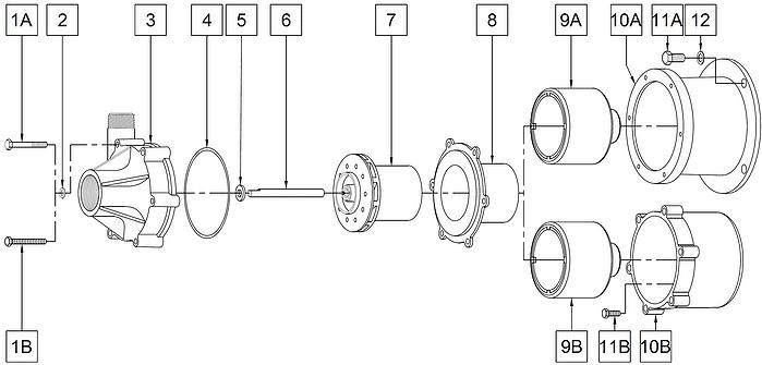 TE-7-MD Plastic Pump Less Motor Breakdown