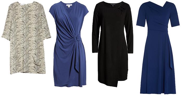 Dresses for the apple shape body   40plusstyle.com
