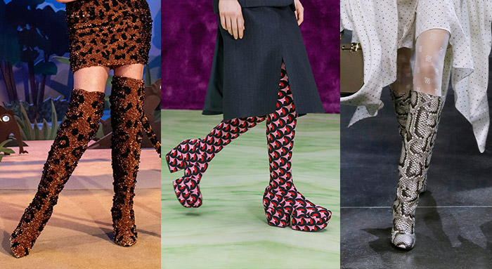 Print and patterns among the fall 2021 shoe trends | 40plusstyle.com