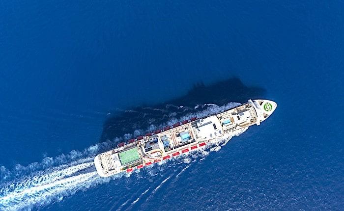 上空から見たゲンティン ドリーム号の画像