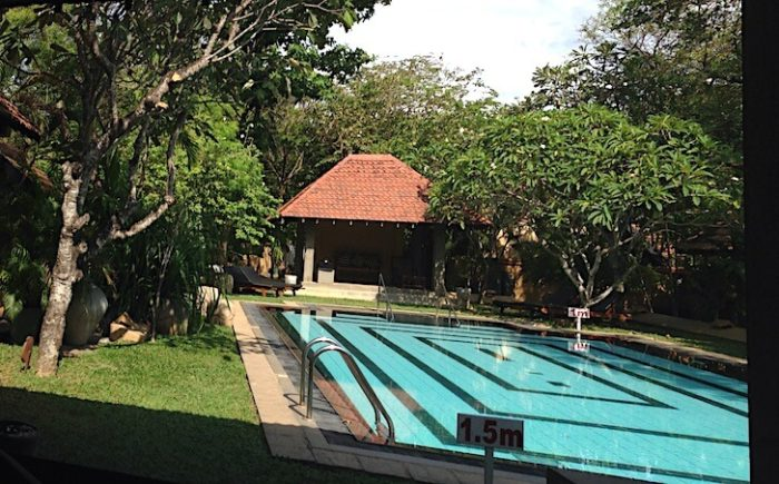 アーユルヴェーダホテルのプール