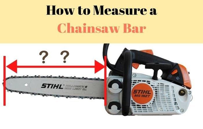 Measure a Chainsaw Bar