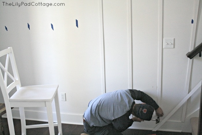 How diy a plank wall without power tools