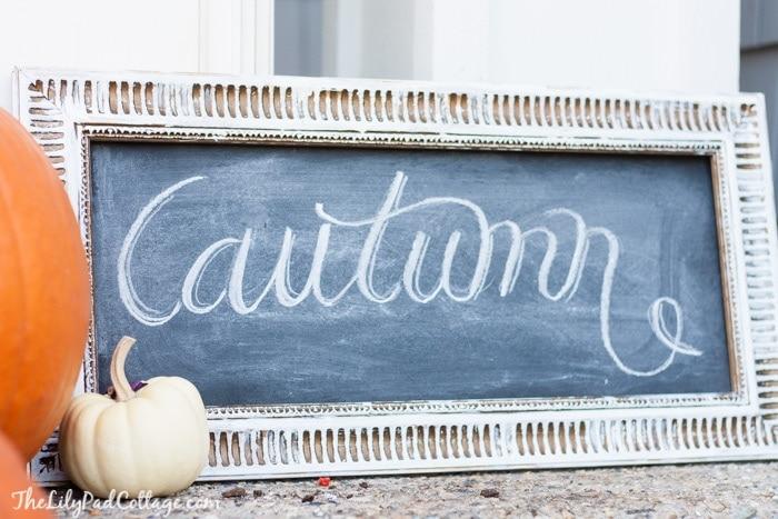 Autumn Chalkboard