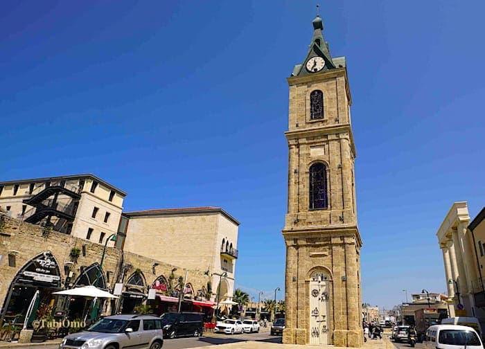 テルアビブの時計塔の画像