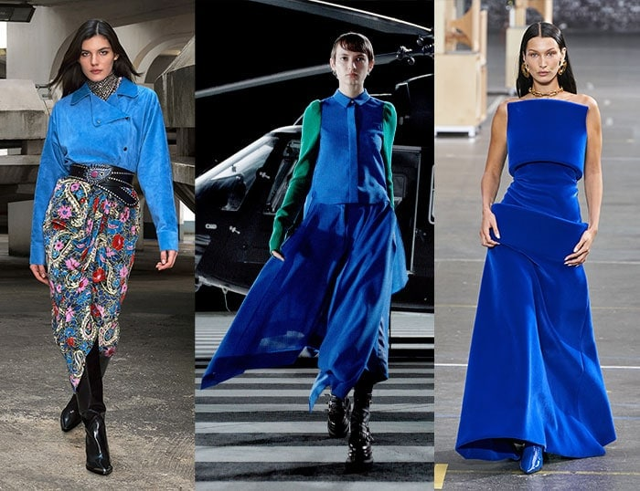 Cobalt blue for winter and fall / 40plusstyle.com