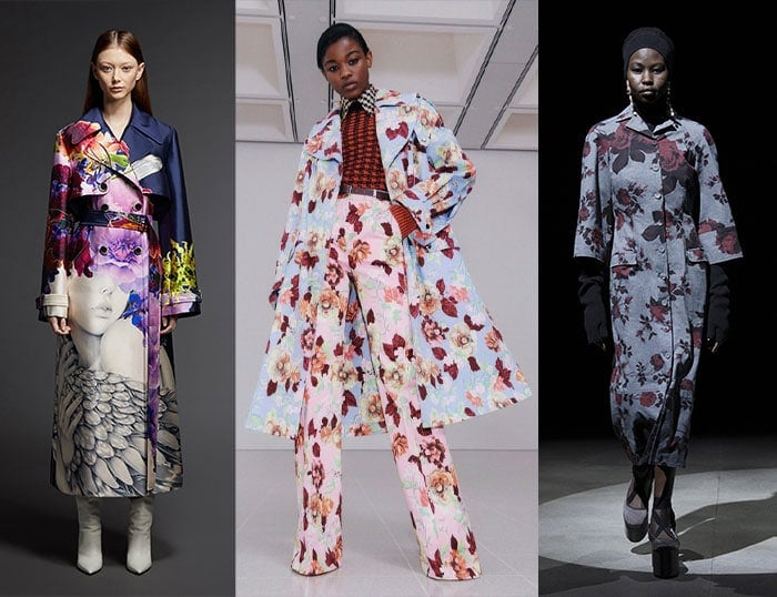 Floral coats for winter | 40plusstyle.com