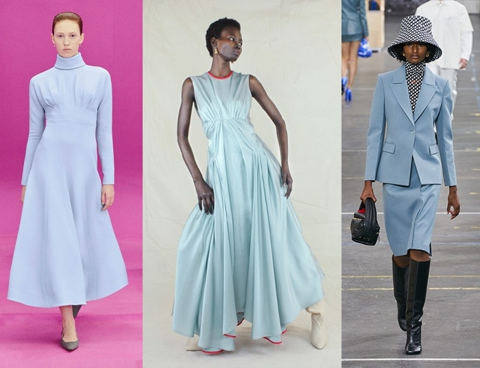 Pale shades of blue for winter and fall / 40plusstyle.com