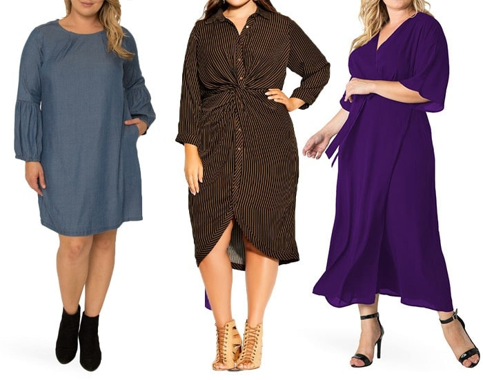 Plus size dresses to hide your belly   40plusstyle.com