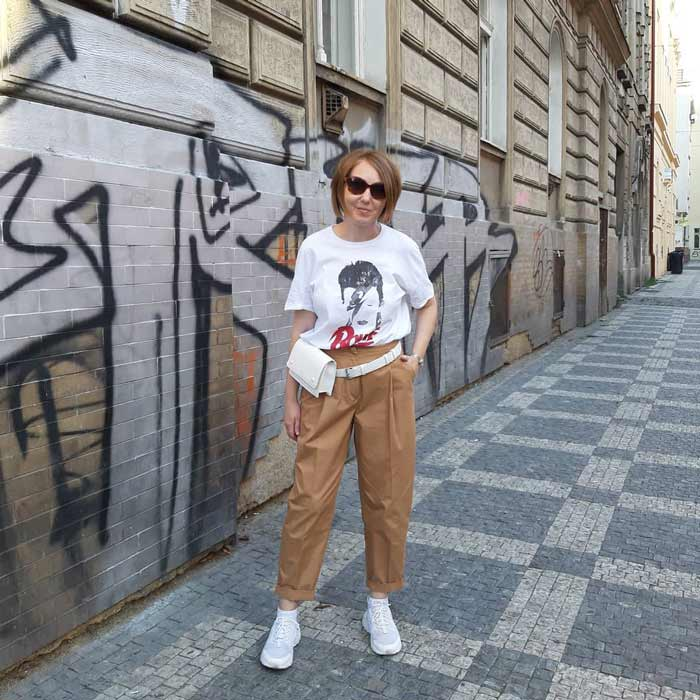 a street style outfit idea for women over 40 | 40plusstyle.com