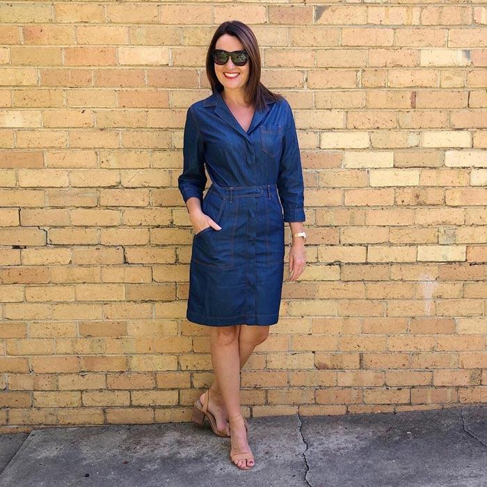 denim shirt dress | 40plusstyle.com