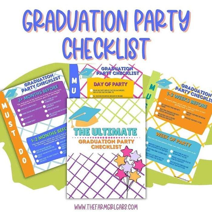 free printable graduation party checklist