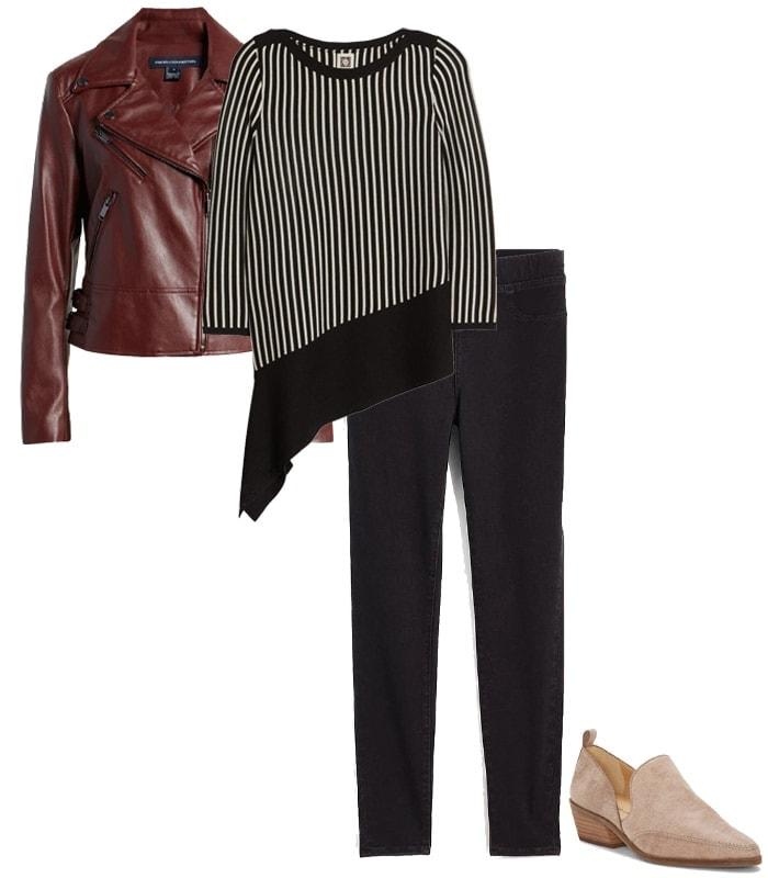 Concert outfits idea - leggings & a tunic | 40plusstyle.com