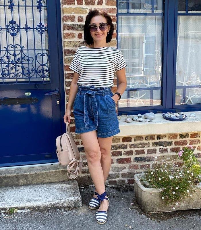 Best women's shorts - paperbag   40plusstyle.com