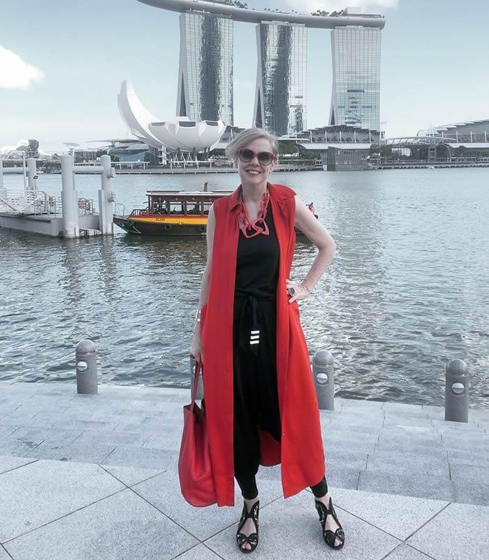 Wearing a long midi dress as a vest | 40plusstyle.com
