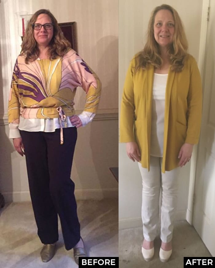 Before and After the 21 Steps to a More Stylish you course - Mary | fashion over 40 | 40plusstyle.com